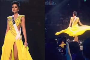 Cú xoay váy 'thần thánh' của H'Hen Niê khiến khán giả Miss Universe 2018 reo hò không ngớt