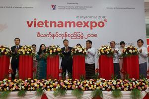 Khai mạc Hội chợ hàng Việt Nam năm 2018 tại Myanmar