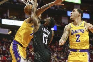 LeBron James bất lực trước sự lên đồng của James Harden, Lakers thất thủ trên Toyota Center