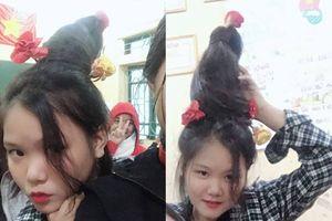 Góc sáng tạo mùa lạnh: 'Cây thông tóc' mang không khí Giáng sinh ấm áp đến lớp học thân yêu