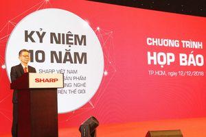 Sharp Vietnam công bố chiến lược kinh doanh mới nhân 10 năm thành lập