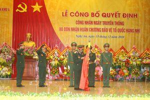 Cục Chính trị Quân khu 4 đón nhận Huân chương Bảo vệ Tổ quốc hạng Nhì