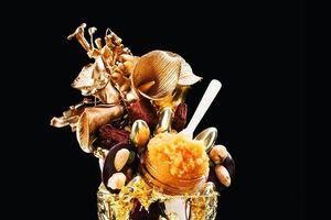 Chiêm ngưỡng ly kem dát vàng dành cho giới siêu giàu