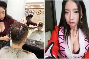 Cô thợ cắt tóc quá sexy khiến khách nam kéo đến nườm nượp