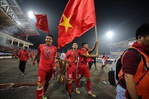 Khoảnh khắc ăn mừng chức vô địch của đội tuyển Việt Nam
