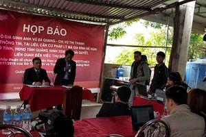 Quảng Ninh: Công dân tổ chức họp báo đề nghị chính quyền xem xét lại quyết định thu hồi đất