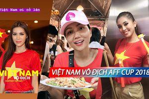H'Hen Niê - Minh Tú - Tiểu Vy hòa vào 'bão bùng' mừng Việt Nam vô địch AFF Cup 2018
