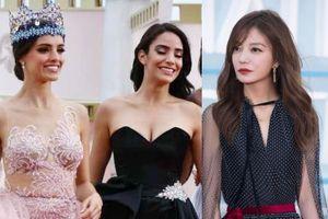Triệu Vy và tân Hoa hậu Thế giới nổi bật trên thảm đỏ LHP Hải Nam