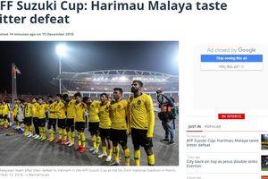 Báo chí Malaysia cay đắng trước thất bại của đội nhà