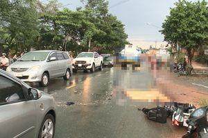 Hai vợ chồng bị xe bồn cán chết thương tâm ở Bình Dương