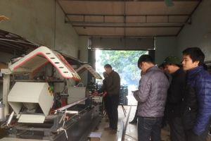Vĩnh Phúc: Nghiệm thu đề án: ' Hỗ trợ kinh phí đầu tư máy móc thiết bị tiến tiến trong sản xuất cửa nhôm'