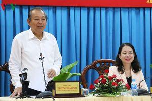Phó Thủ tướng Thường trực Trương Hòa Bình làm việc tại An Giang