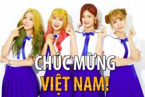 Nhóm nhạc nữ K-Pop chúc mừng đội tuyển Việt Nam