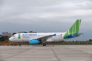 Chiếc máy bay hãng hàng không Bamboo Airways đã có mặt tại Nội Bài
