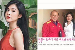 Báo Hàn Quốc truy lùng danh tính nữ diễn viên chụp ảnh cùng HLV Park Hang Seo