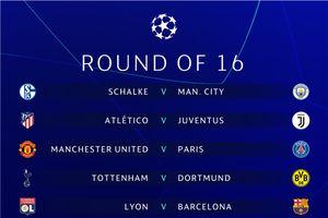 MU gặp khó, nhiều cặp đấu hấp dẫn ở vòng 1/8 Champions League