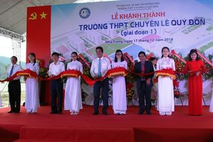 Khánh thành trường THPH chuyên Lê Quý Đôn đạt chuẩn quốc gia