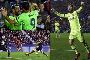 Levante 0-5 Barca: Sân khấu của Lionel Messi