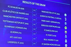 Bốc thăm vòng 1/8 Cúp C1: Tâm điểm MU vs PSG, Liverpool vs Bayern