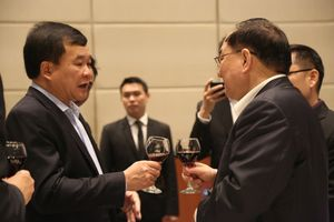 Tiệc chiêu đãi chào mừng đoàn đại biểu Ủy ban Hợp tác quản lý cửa khẩu phía Trung Quốc