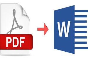 Hướng dẫn đổi PDF sang các tệp Word, Excel ngay trên trình duyệt