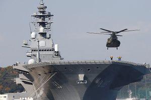 Bộ trưởng Quốc phòng Nhật Bản thị sát tàu đổ bộ trực thăng Izumo
