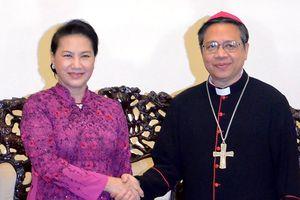 Chủ tịch Quốc hội chúc mừng Tòa tổng giám mục Tổng giáo phận TPHCM dịp Giáng sinh