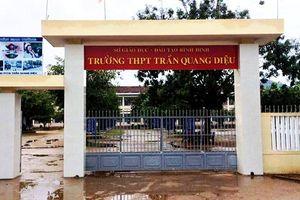 Bình Định: Nam sinh hành hung thầy giáo đã đến trụ sở công an trình báo