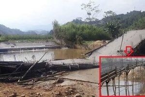 Yên Bái: Cầu đang xây dựng bất ngờ đổ sập