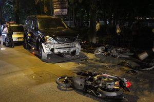 Nữ tài xế Lexus đâm liên hoàn ở Hà Nội, 6 người nhập viện