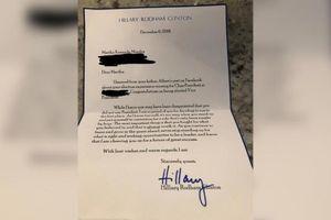 Bà Hillary Clinton viết thư an ủi bé 8 tuổi vì không được bầu làm lớp trưởng