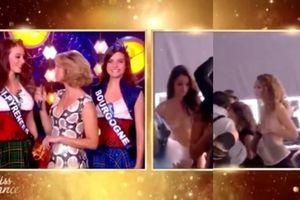 Người đẹp Hoa hậu Pháp bức xúc vì bị phát cảnh lộ ngực trần trên sóng truyền hình trực tiếp