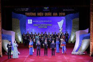Vicostone vinh dự được công nhận danh hiệu 'Thương hiệu Quốc gia năm 2018'