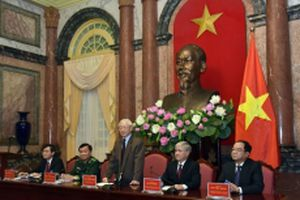 Tổng Bí thư, Chủ tịch nước Nguyễn Phú Trọng gặp mặt thân mật người có uy tín tiêu biểu khu vực biên giới