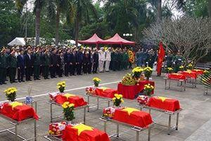 Lễ truy điệu và an táng hài cốt liệt sĩ tại Hà Giang