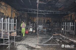 Hình ảnh hiện trường đầy ám ảnh vụ cháy quán RuBy khiến 6 người chết ở Đồng Nai