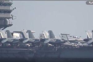 Tàu sân bay Mỹ giám sát cuộc diễn tập quân sự của Iran