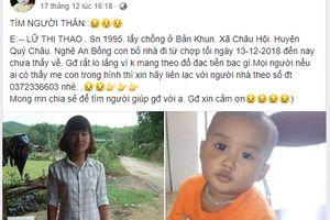 Người mẹ trẻ và con trai 2 tuổi bất ngờ mất tích bí ẩn