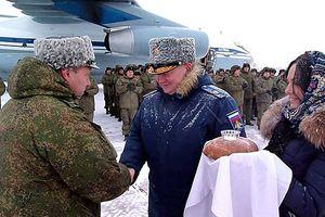 Các xạ thủ phòng không Nga trở về nhà từ Syria