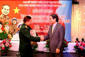 Kỷ niệm 74 năm thành lập Quân đội Nhân dân Việt Nam tại Ba Lan