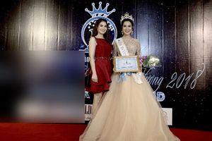 Em gái Kha Ly đăng quang Hoa hậu Áo dài Quốc tế 2018