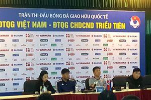 Huấn luyện viên trưởng Kim Yong Jun: 'Trận gặp Việt Nam có ý nghĩa rất quan trọng với chúng tôi'