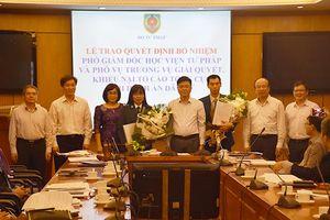 Bộ Tư pháp bổ nhiệm nhân sự mới