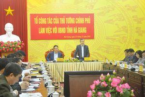 Tổ công tác của Thủ tướng kiểm tra tỉnh Hà Giang