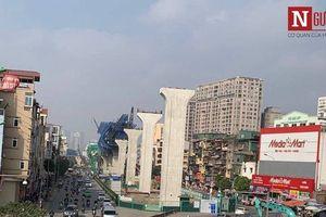 Hà Nội: Phân luồng giao thông thi công dự án vành đai 2 trên cao