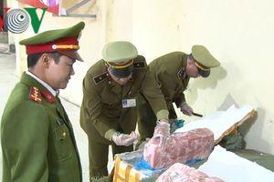 Thu giữ hơn 1 tấn nầm lợn nhập lậu ở Lạng Sơn