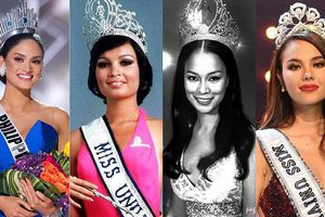 'Đọ' nhan sắc 4 mỹ nhân Philippines từng đăng quang Hoa hậu Hoàn vũ