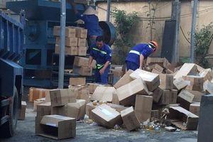Tiêu hủy gần 2 tấn thực phẩm chức năng không đảm bảo an toàn