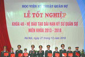 Học viện Kỹ thuật Quân sự tổ chức lễ tốt nghiệp cho học viên Khóa 49
