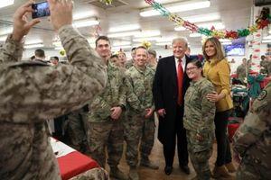 Ông Trump bất ngờ thăm quân Mỹ tại Iraq